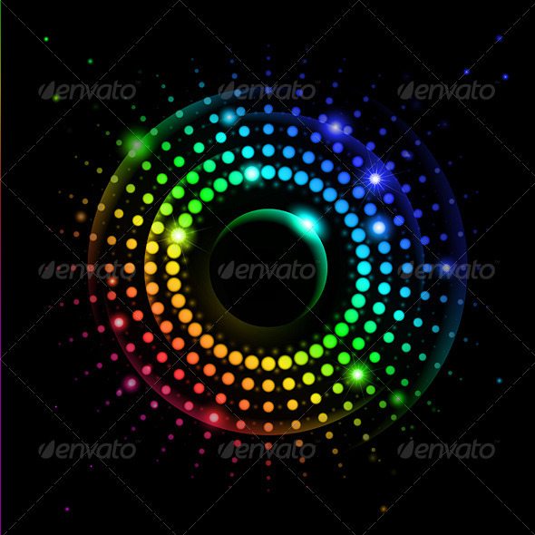 Abstract Rainbow Ray #2 - Backgrounds Decorative