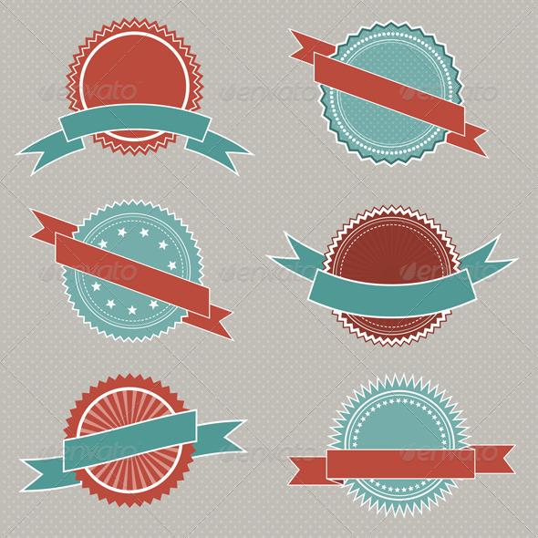 Retro Badge Emblems - Decorative Symbols Decorative