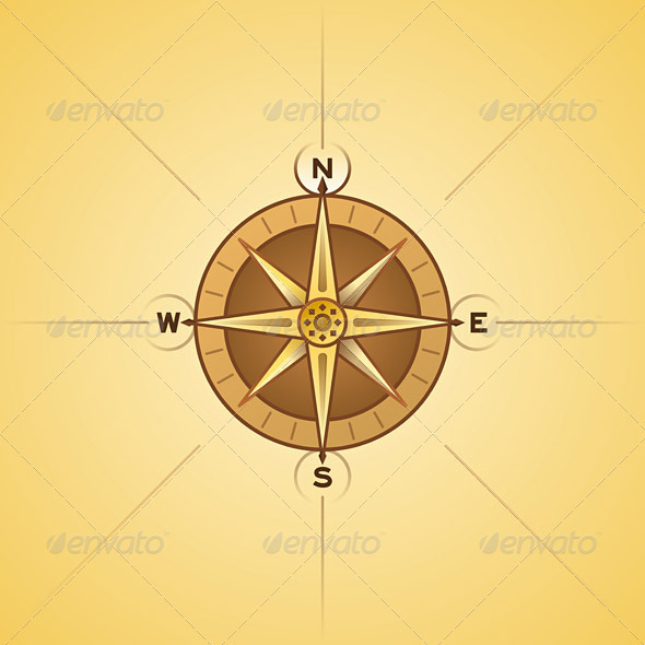 Nautical Rose Compass - Travel Conceptual