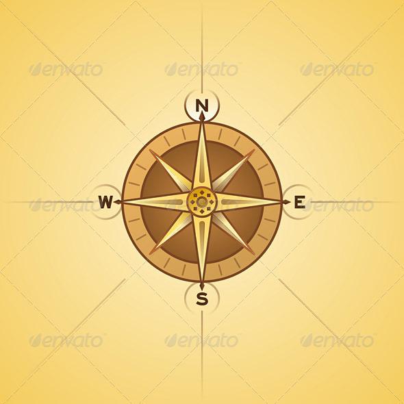 Nautical Rose Compass - Travel Conceptual