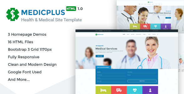 MedicPlus – Health & Medical HTML Template