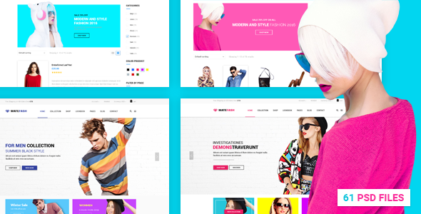 MateFash – Material Fashion Shop PSD Template