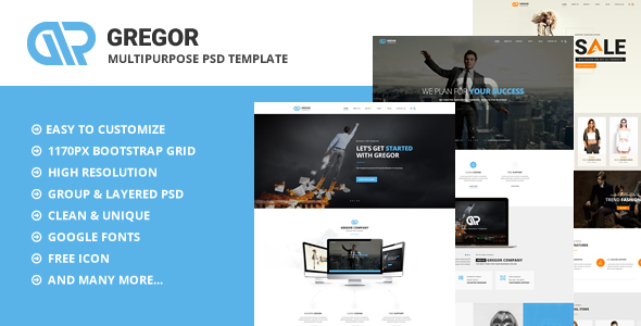 Gregor – Multipurpose PSD Template