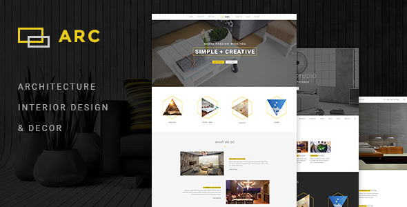 ARC – Interior Design, Decor, Architecture Business PSD Template