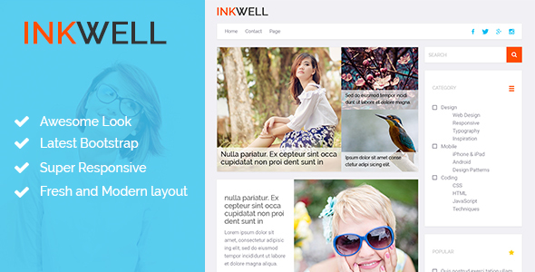 INKWELL | Blog HTML Template