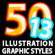50 Illustrator Graphic Styles Vol.13 - GraphicRiver Item for Sale