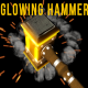 Glowing Hammer Logo/Text Revealer
