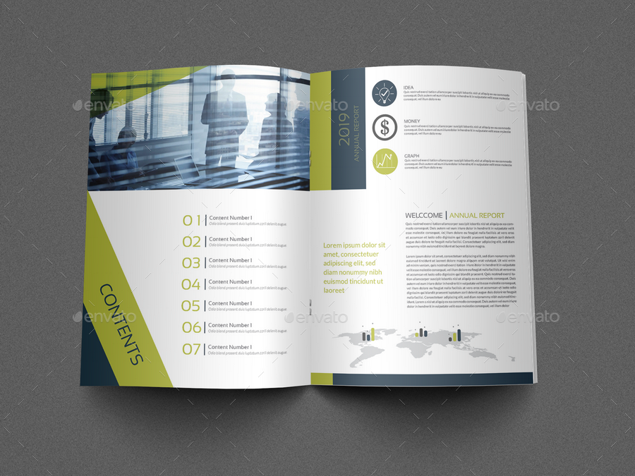 Annual Report Brochure Template   24 Pages