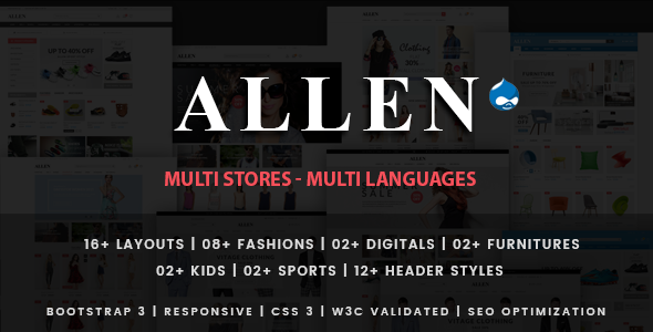 Allen - Multipurpose Responsive Drupal Theme - Shopping Retail