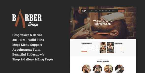 Barber Shop | Responsive Hairdresser, Barber, Hair Salon, Shave Site Template