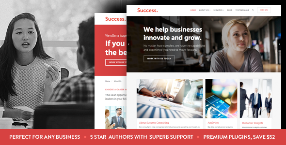 Success – Business and Professional Services WordPress Theme