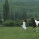 Young Beauty Running With A Horse - VideoHive Item for Sale