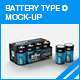 Battery Type D Mock-up - GraphicRiver Item for Sale