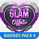 Metal Badges Template Pack Vol 4 - GraphicRiver Item for Sale