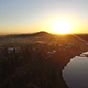 Sunrise Over a River Aerial - VideoHive Item for Sale