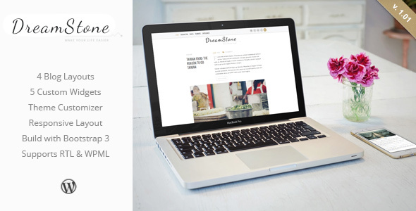 DreamStone - Personal WordPress Blog Theme - Personal Blog / Magazine