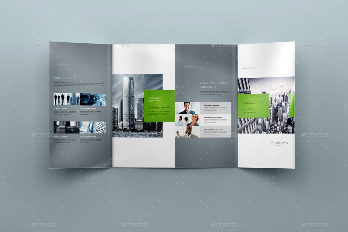 4xDL Double Gate Fold Brochure Mock Up 3   Brochures Print ·  Screen/1242324 Screen/232323 ...