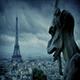 Gargoyle Looks Over Paris In The Rain - VideoHive Item for Sale