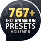 Text Preset Volume II for Animation Kit - VideoHive Item for Sale