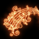 Burning Music Notes - VideoHive Item for Sale