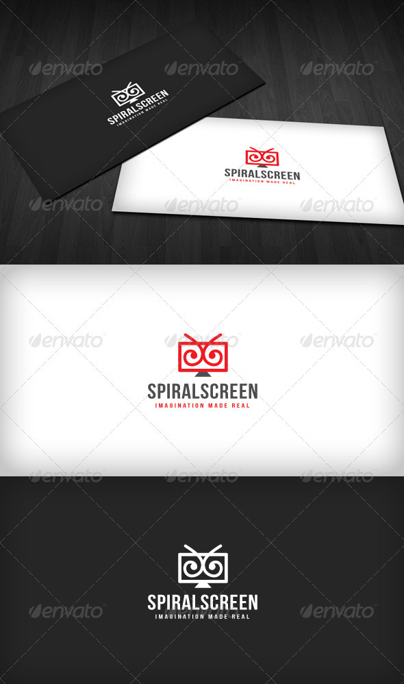 Spiral Screen Logo - Objects Logo Templates