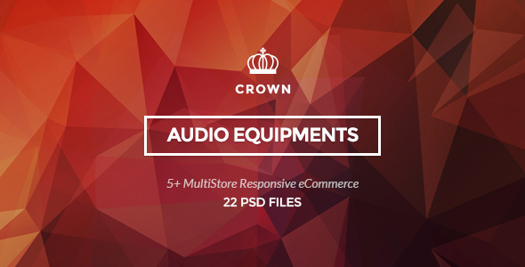 Crown – Audio Equipments PSD Template