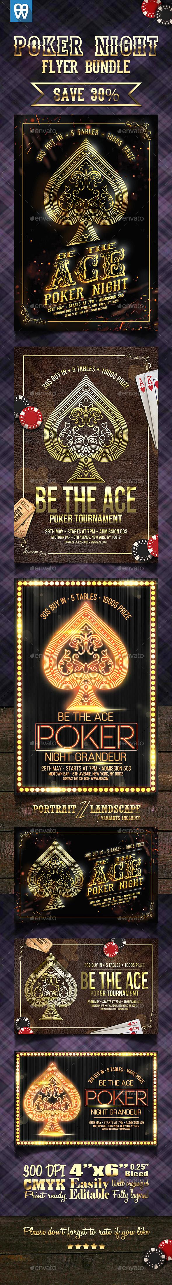Poker Night Flyer Bundle
