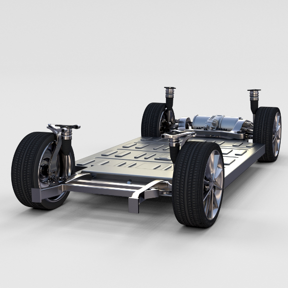 Tesla Model S Chassis rev - 3DOcean Item for Sale