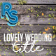 Lovely Wedding TItles - VideoHive Item for Sale