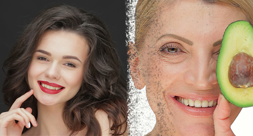 Woman skin care concept