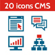 20 Icons CMS - Content Management System - GraphicRiver Item for Sale