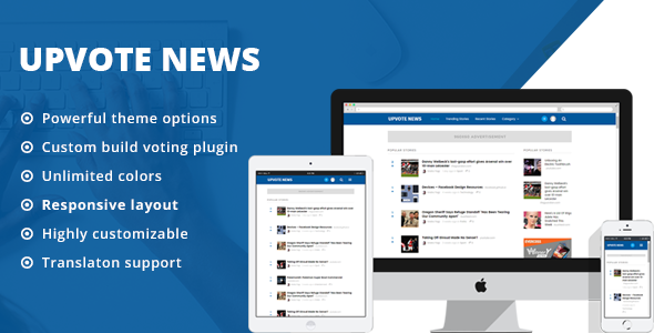 UpVote - Social Bookmarking WordPress Theme - News / Editorial Blog / Magazine