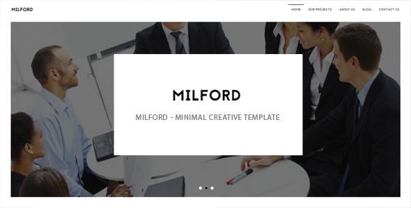 Milford – minimal creative template