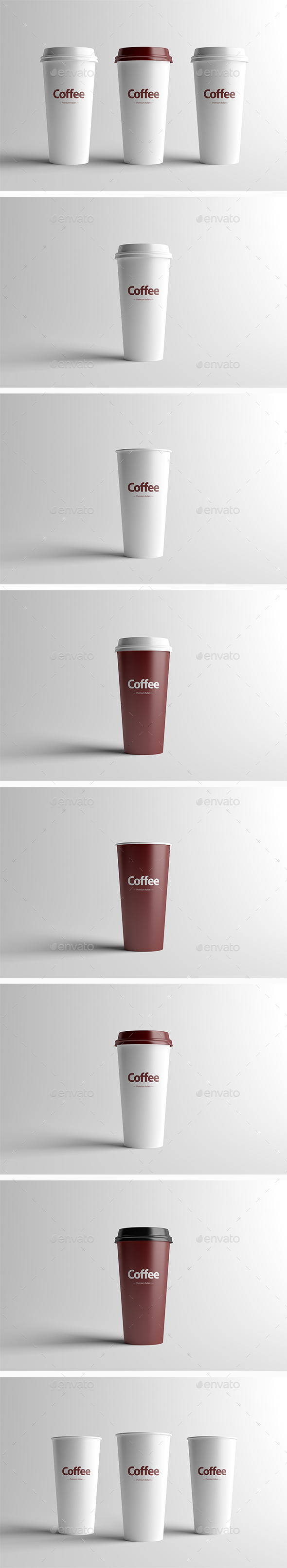 Paper Coffee Cup Packaging Mock-Up - Large