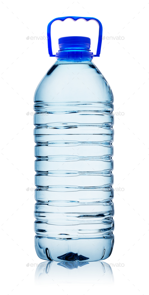 Plastic water bottle with handle - Stock Photo - Images