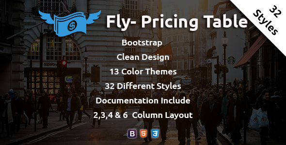 Fly - Pricing Table - CodeCanyon Item for Sale