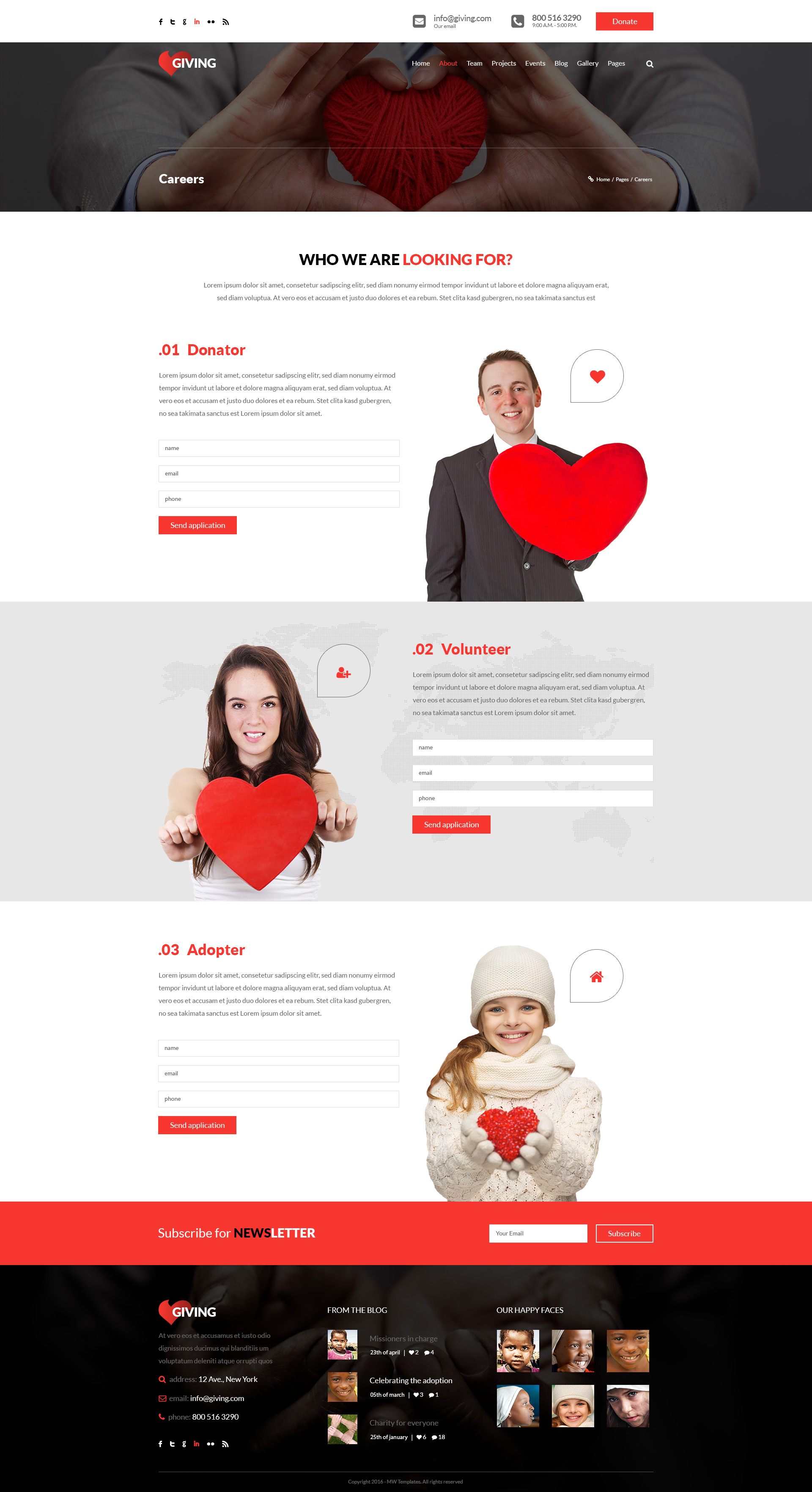 giving ngo and charity psd template by mwtemplates themeforest