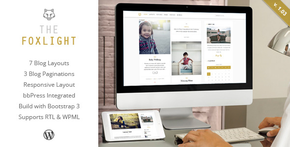 Foxlight - WordPress Personal Blog Theme - Personal Blog / Magazine