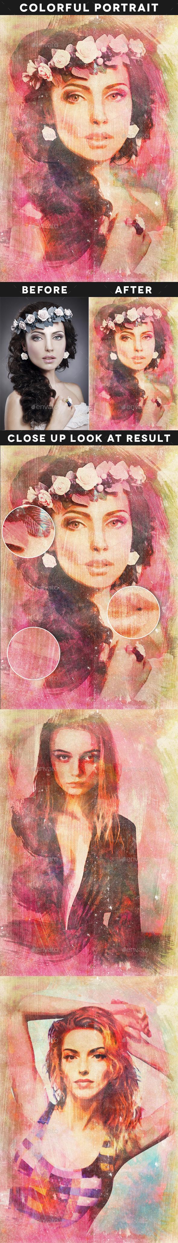 Creative Colorful Portrait - Artistic Photo Templates