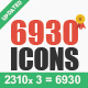 6930 New Vector Icons - GraphicRiver Item for Sale