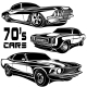Muscle Car Vector Poster Monochrome - GraphicRiver Item for Sale