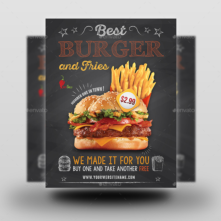 Burger Restaurant Flyer Template Vol.6 By OWPictures