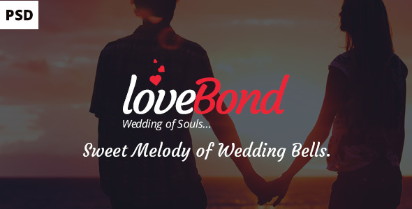 LoveBond One Page Wedding PSD Template – beautiful and awesome