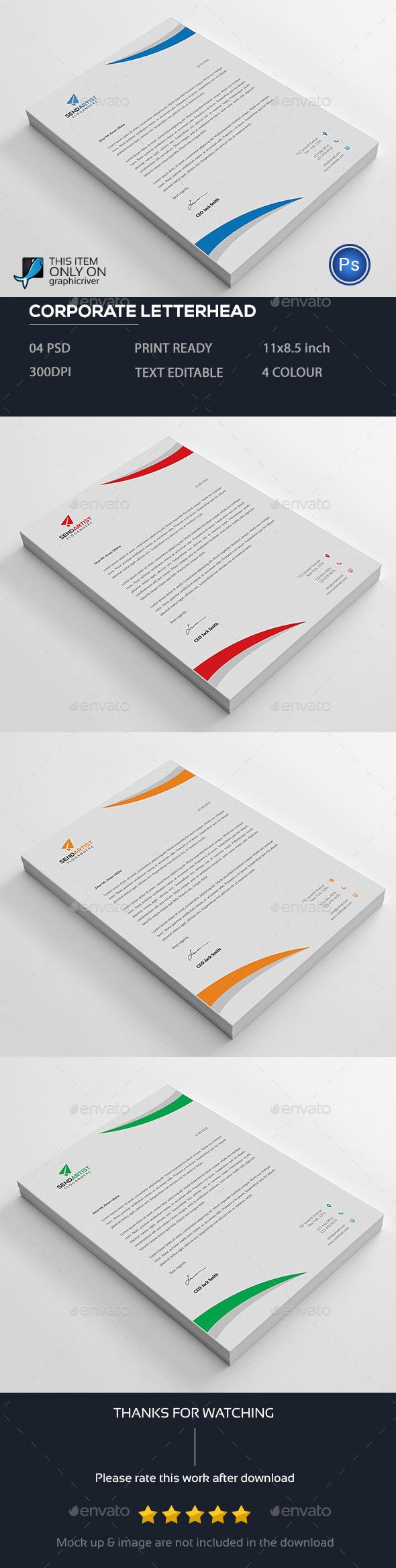 Letterhead template by designstemplate graphicriver letterhead template stationery print templates spiritdancerdesigns Choice Image