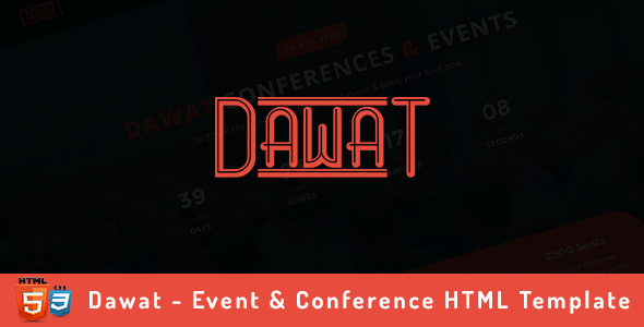 Dawat – Event & Conference HTML Template