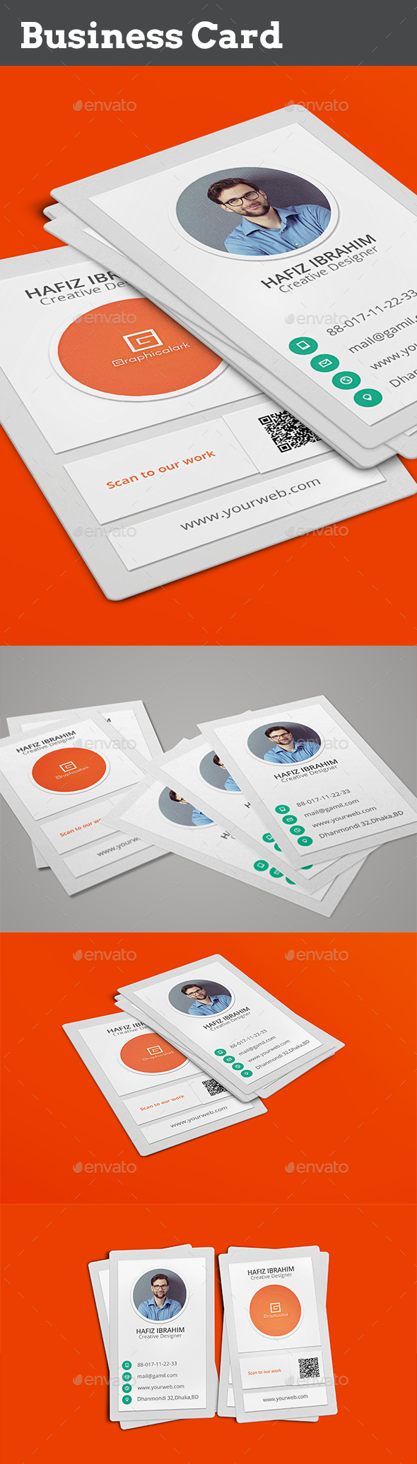 Flat Business Card - Business Cards Print Templates