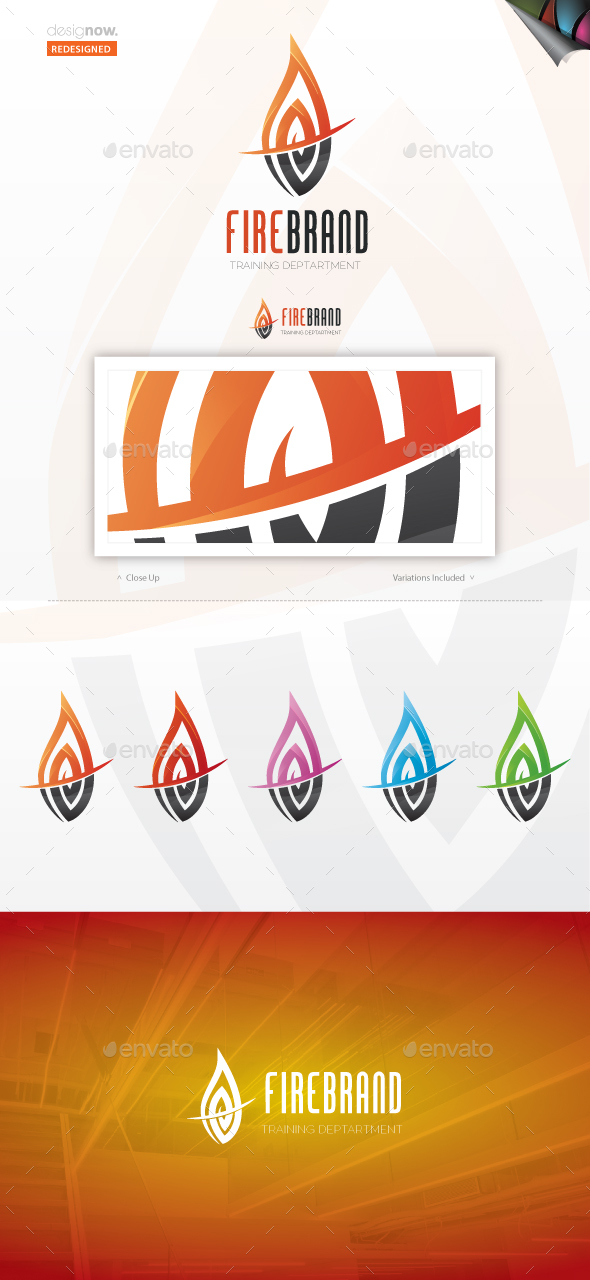 Fire Brand Logo - Vector Abstract