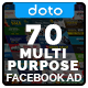 Multipurpose Facebook Ad Banners - 70 Designs - GraphicRiver Item for Sale