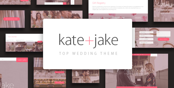 Kate + Jake – Lovely WordPress Wedding Theme