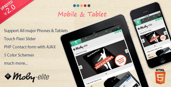 Moby elite – Mobile Template
